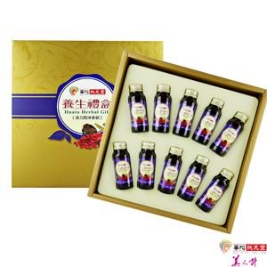 華陀扶元堂 活力西洋蔘飲禮盒1盒(10瓶/盒)