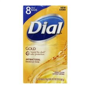 美國Dial黛雅經典黃金皂白茶花萃取&維他命E(4oz*8)*2組