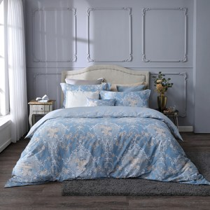【BBL Premium】絲綢玫瑰100%精梳棉.印花雙人兩用被床包組雙人