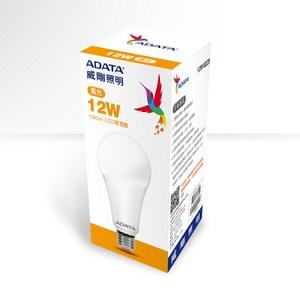 ADATA 威剛照明 12W 高效能LED球泡燈-黃光(4入)