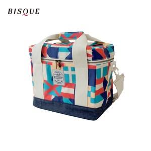 【日本BISQUE】方形保冷保溫箱袋-M 彩色方塊