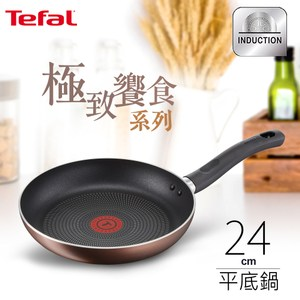 Tefal法國特福 極致饗食系列24CM不沾平底鍋(電磁爐適用)