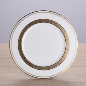 HOLA home 艾勒琴骨瓷平盤6吋 棕白