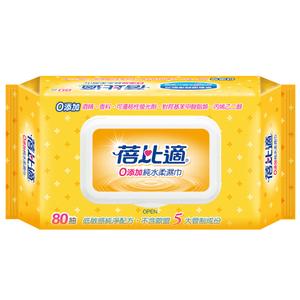 蓓比適 0添加純水柔濕巾80抽/包 24包/箱
