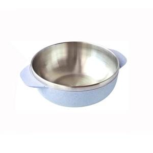 麥纖維304不鏽鋼飯碗15.5cm 藍
