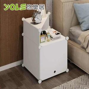 【YOLE悠樂居】隨心DIY百變組合角落置物櫃-1列2層(A-4)