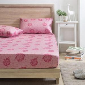 MONTAGUT-幸福花園-200織紗精梳棉三件式床包組(加大)