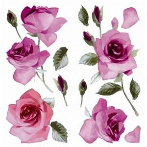 義大利HOME DÉCOR壁貼Sx2 紫玫瑰C59157