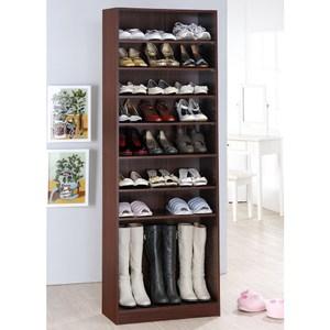 【Hopma】新十層開放鞋櫃-胡桃木