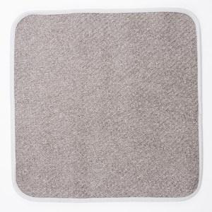HOLA 艾爾亞藤抗菌防螨一人坐墊 50x50cm 灰