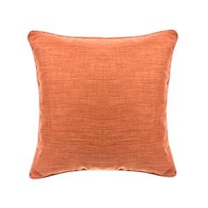 HOLA 素色拼色滾邊抱枕50x50cm 橘紅米