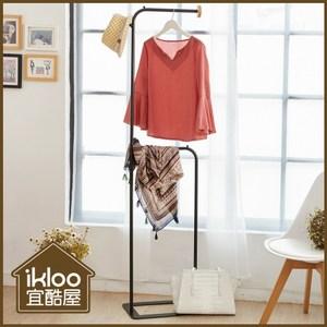 【ikloo】無印風簡約掛衣架/吊衣架◆氣質白◆