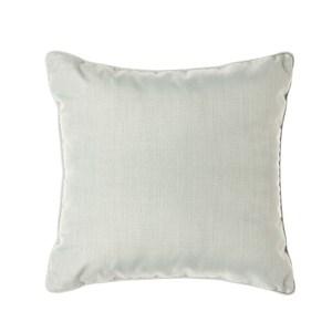 HOLA 素色拼色滾邊抱枕50x50cm 淺藍灰