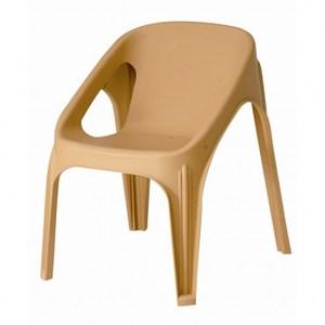 康尼塑膠扶手單椅 黃