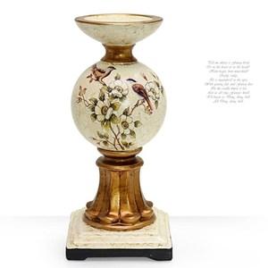 HONEY COMB 仿大理石紋喜鵲陶瓷高腳燭台(小) EL01