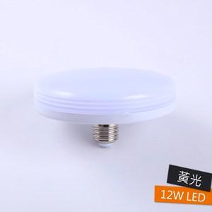 快可換12W LED燈泡 黃光