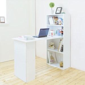 【Hopma】水漾4+2書櫃型書桌-時尚白
