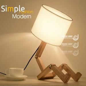 【光的魔法師】1.2.3 木頭人桌燈