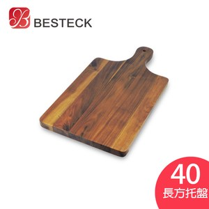 BESTECK洋槐木單柄長方托盤45cm