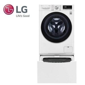 (贈國際牌吹風機)LG 雙能洗洗衣機WD-S105VCW(蒸洗脫)+WT-D200HW
