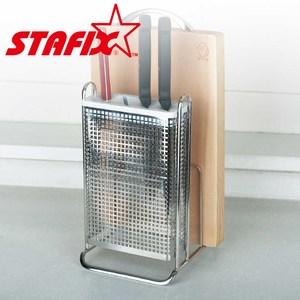 【韓國原裝進口STAFIX】不銹鋼菜刀砧板直立架17.5x14.8x25CM