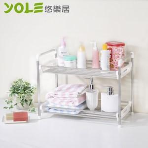 【YOLE悠樂居】雙層廚房衛浴多功能置物架#1132037
