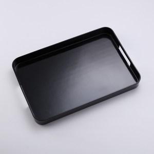 HOLA 原質長形美耐皿托盤 黑