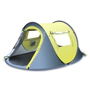 PUSH!戶外休閒用品1秒丟自動免搭拋帳露營帳篷P118黃配灰黃配灰