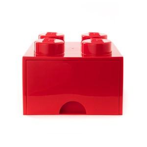 樂高系列 - 經典方塊四抽屜盒(鮮紅)