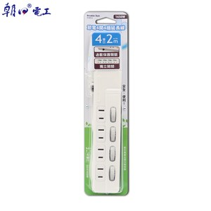 DS節電4開4插延長線15A2米