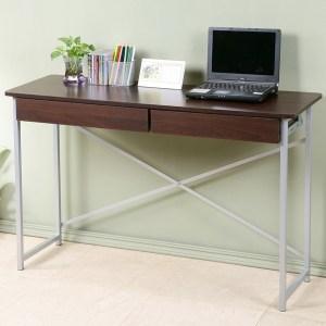 Homelike 超值附抽工作桌-寬120公分-胡桃色