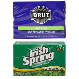 Brut格新古龍水皂(3.5oz*2)*3+Irish Spring體香皂*12