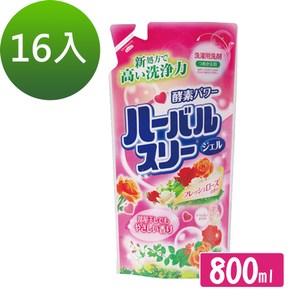 日本Mitsuei美淨玫瑰酵素洗衣精800g補充袋16袋 (箱購)
