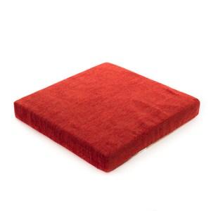 香奈兒絨棉厚坐墊 50x50cm 紅色款