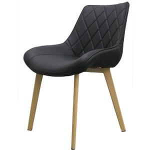 【YOI傢俱】維洛納休閒椅-黑皮黑皮