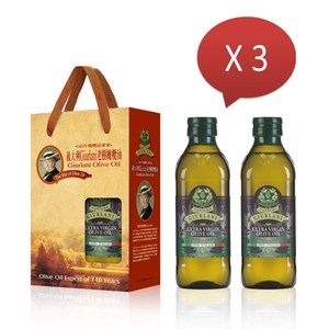 義大利Giurlani老樹特級初榨橄欖油禮盒組(500mlx6瓶)500mlx6