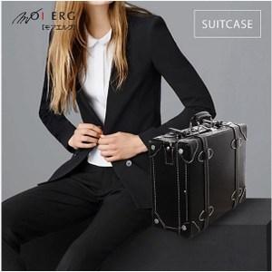 Vintage Feel愛上復古潮旅行plain suitcase (M-14吋)-黑