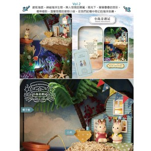 【買達人】奇幻劇場馬口鐵盒DIY模型盒-藍色