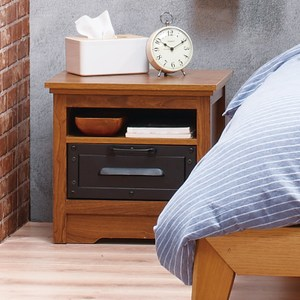 羅福星工業風床頭櫃 採E1板材