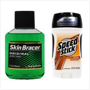 美國 Skin Bracer美能鬍後水(7oz)*2+體香膏(85g)*1