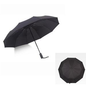 【PUSH! 好聚好傘】十骨抗強風雨傘 遮陽傘(黑色)I61