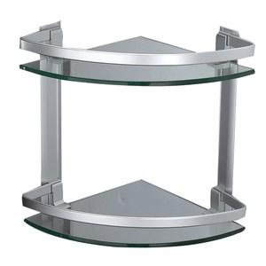 新世代鋁質二層扇型牆角置物架