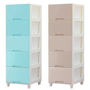 【IDEA】日系生活傢俬 五層抽屜收納櫃-DIY水藍