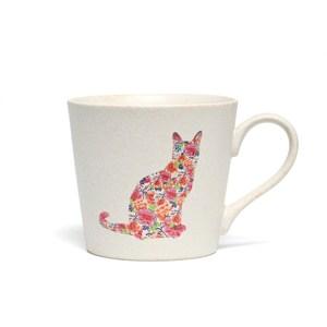 丸モ高木陶器|變色貓貓馬克杯-尋找貓咪(霧白)