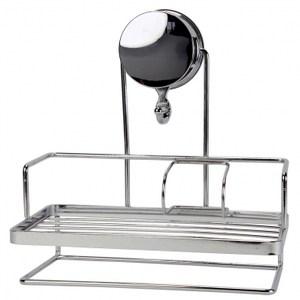 超荷重吸盤式清潔用品架附瀝水盤