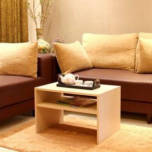 《C&B》樂庭日式兩用茶几桌/邊桌-淺木紋