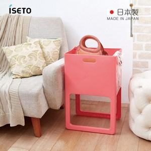 【日本ISETO】日製ACOT折疊式桌邊萬用籃粉紅