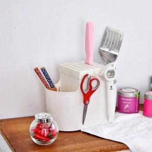 【H&R安室家】廚房必備刀筷收納架