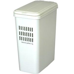 【this-this】掀蓋式垃圾桶14L - 米白色
