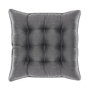 HOLA 素色織紋地坐墊48x48cm 炭灰色